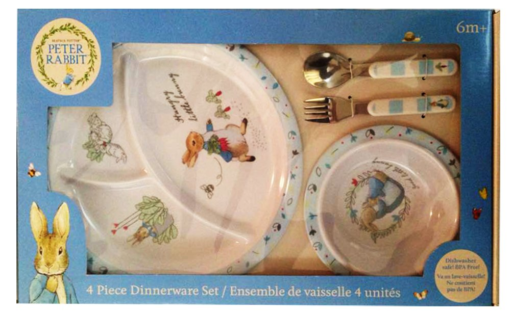 新版 Beatrix 4 Potter Peter B01N7U013T Rabbit 4 Piece Dinnerware Set Rabbit B01N7U013T, 北海道麺SHOP 北の麺ぐるめ:960f0529 --- a0267596.xsph.ru