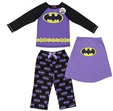 Amazon.com  DC Comics Batman Batgirl Cape Pajama Sleepwear Set ... 4b1558dbf