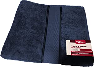 Better Homes and Gardens Thick and Plush Bath Towel Collection - Blue Admiral