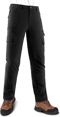 Kutook Pantalones Softshell Trekking Hombre Impermeables Para Otono Invierno Pantalones Senderismo Montana Con Forro Polar Hp020 Amazon Es Deportes Y Aire Libre