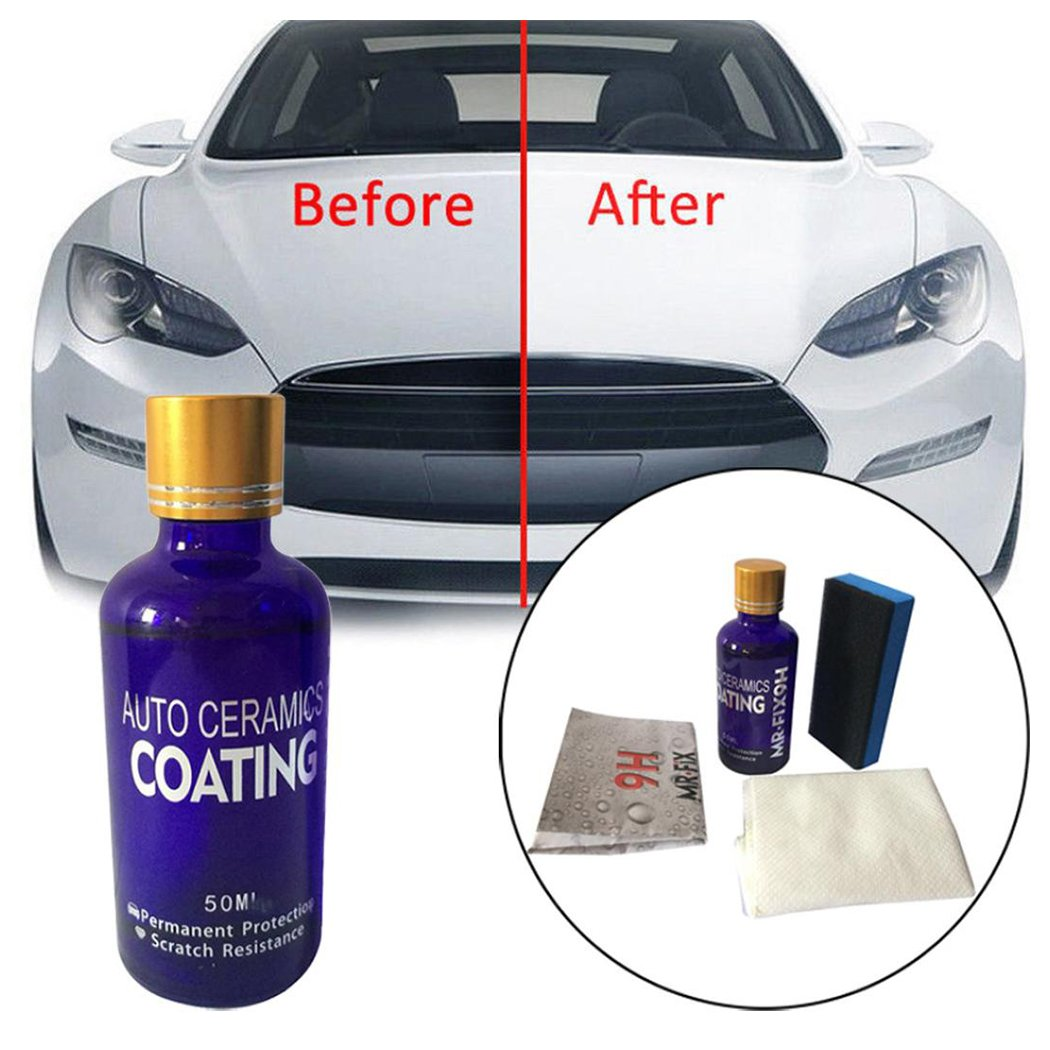 Inkach Ceramic Car Coating Kit - Super Hydrophobic Glass Auto Liquid Painting Care Sealant 9H (Multicolor)