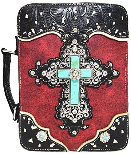 Blancho Ropa de cama Mujer [patrón clásico] Bolsa de cuero de PU Bolsa Handbad bolso elegante Handbag-rojo