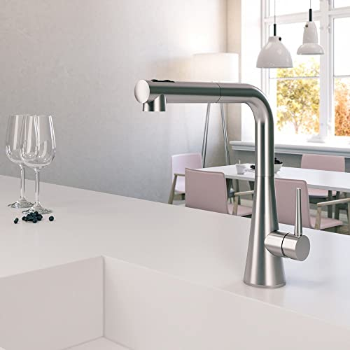 Houzer SOMPO-665-BN Soma Pull Out Kitchen Faucet, Brushed Nickel