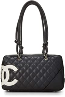 b70a3eaab6ce Amazon.com: CHANEL Black Quilted Calfskin Cambon Ligne Tote Large ...