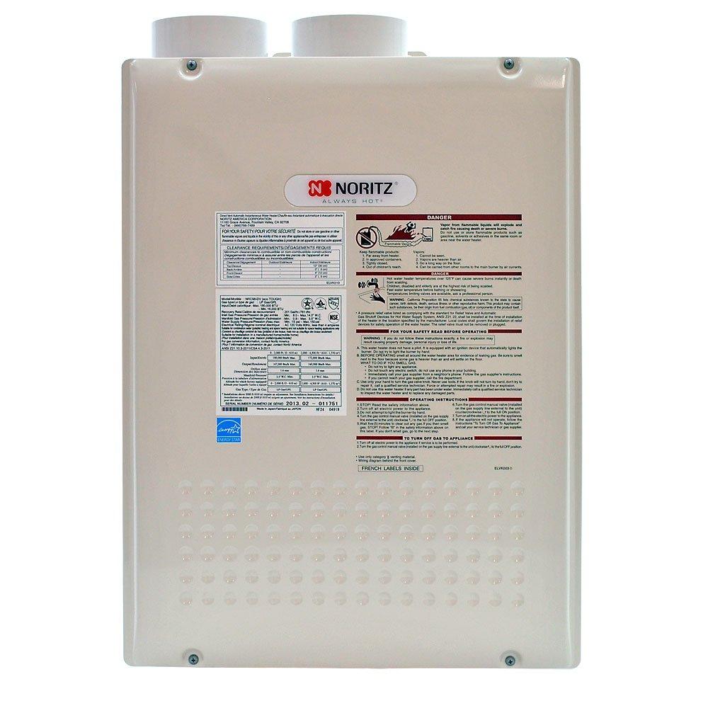 Noritz NRC98-DVLP Indoor Direct Vent 9.8-GPM Propane Condensing Tankless Water Heater