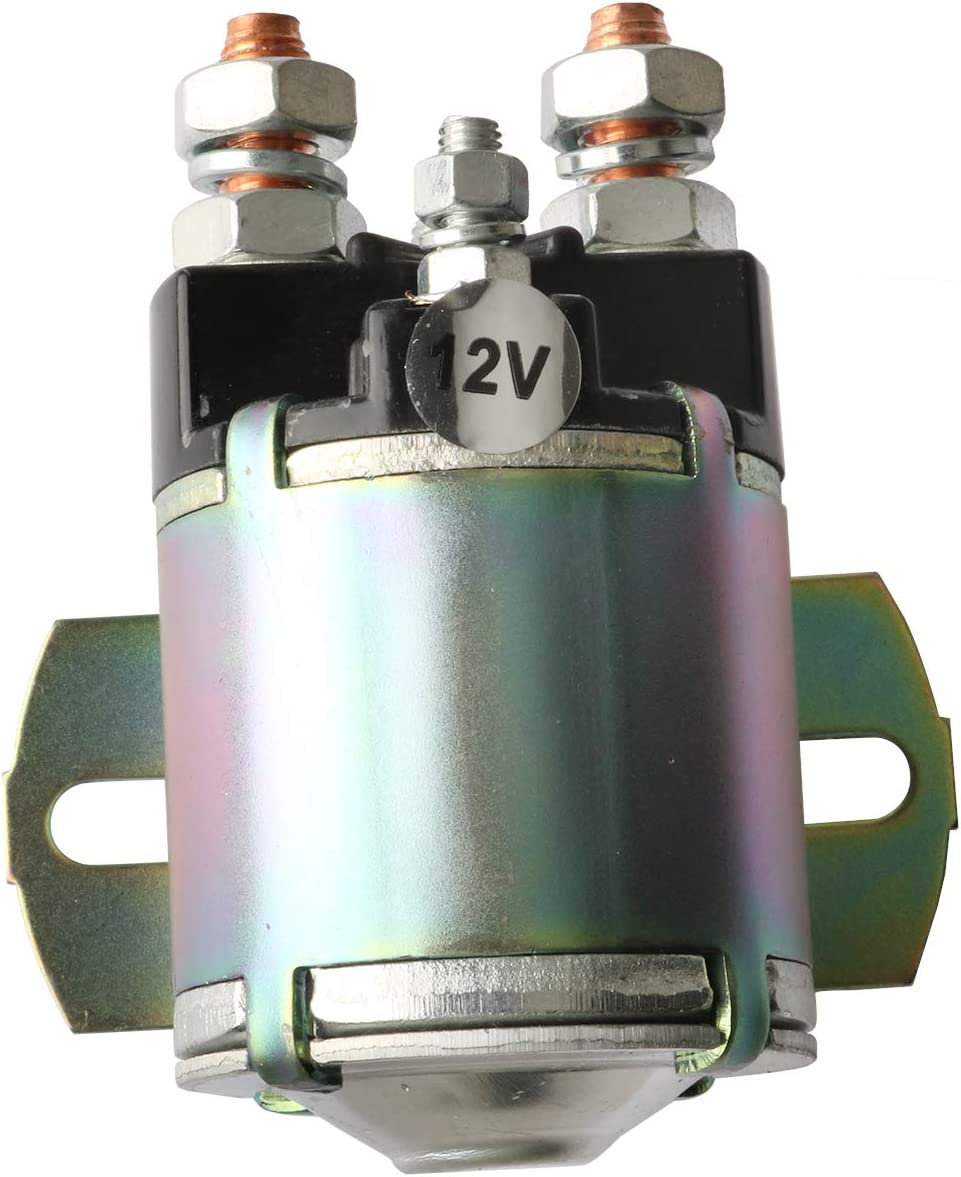 Yixin 12V Solenoid Fits for Yamaha Golf Cart G2-G16 Gas 4-Cycle 1985+ 4 Terminal