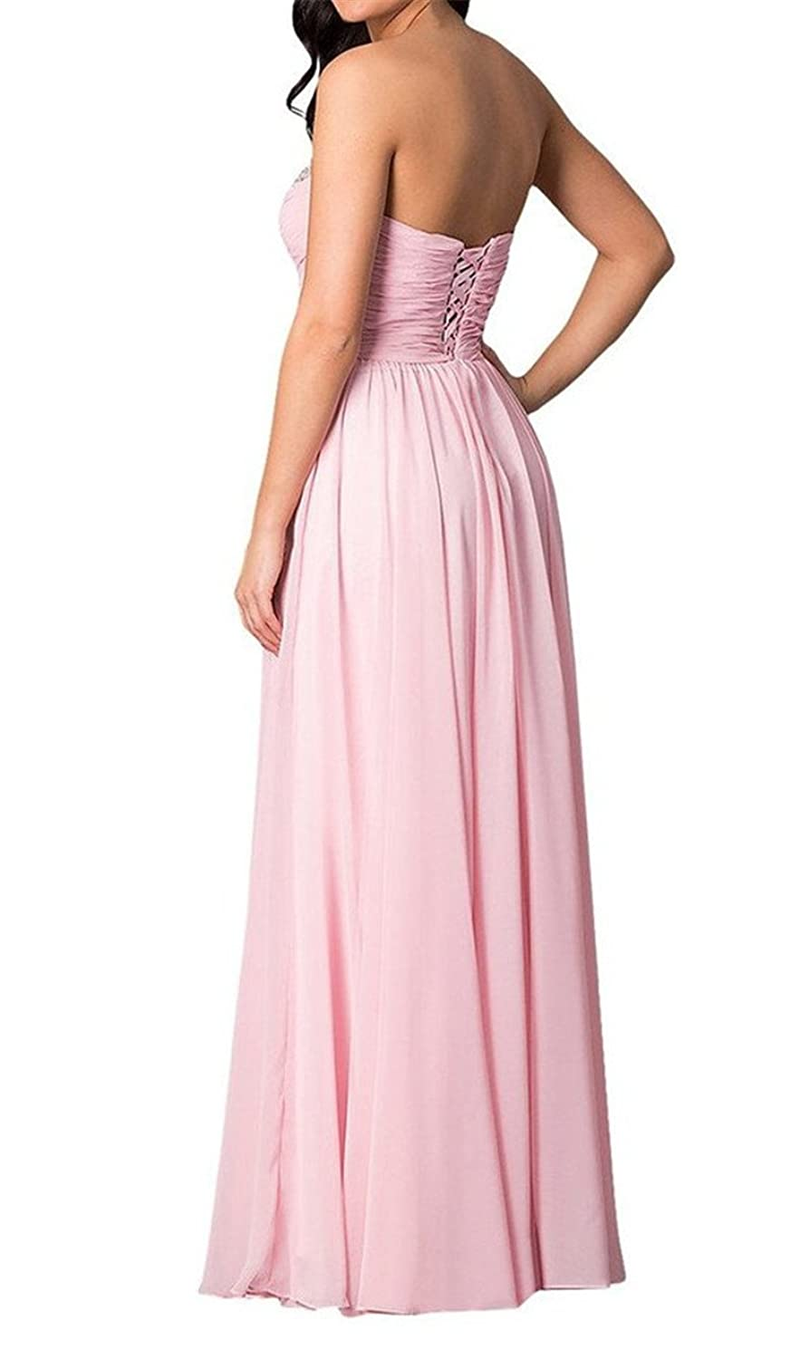 AngelDragon Strapless Beading Evening Dresses Long Party Gowns Empire Prom