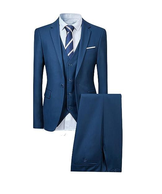 EHOMEBUY - Traje - para Hombre Azul Azul M  Amazon.es  Ropa y accesorios 61f5f2ebfc93