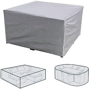 YP Fundas para Muebles De Jardin,Impermeable Cubierta Protectora Exterior Resistente Al Viento Funda para Mesa JardíN Rectangular Anti-UV para Mesas De Comedor Sillas SofáS: Amazon.es: Deportes y aire libre