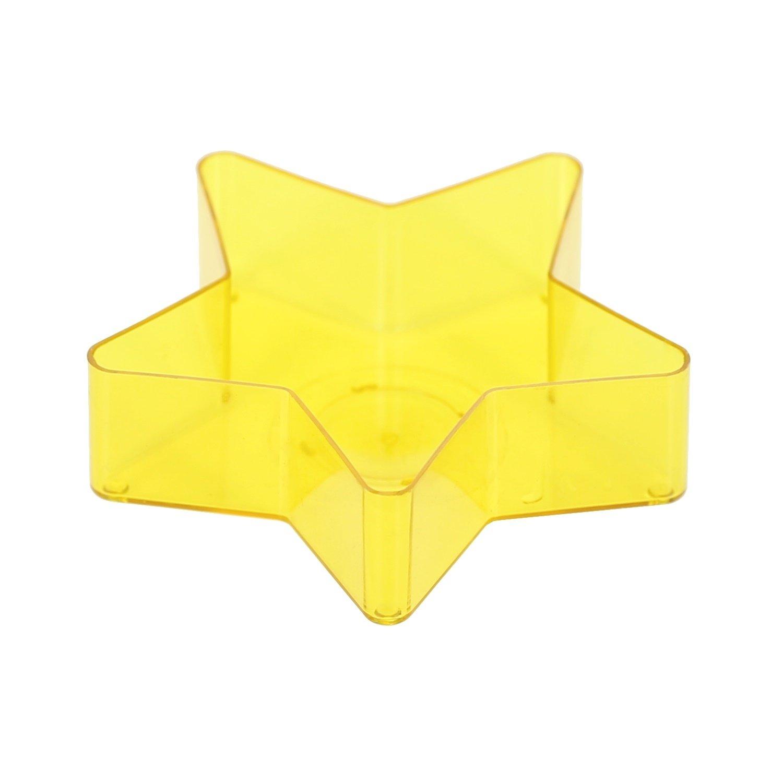 Lumino custodie in plastica a forma di stella realizzare candele, 65mm di diametro, giallo, 4 pezzi Bütic GmbH