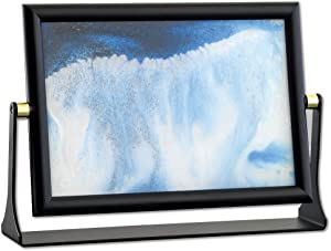 "Bits and Pieces - Sand in Motion (8"" x 5-5/8"")- Blue Sand Waves Moving Art - Sand Picture - Soothing Motion of Drifting Sandscape- Endless Fun for Every Desktop Art"