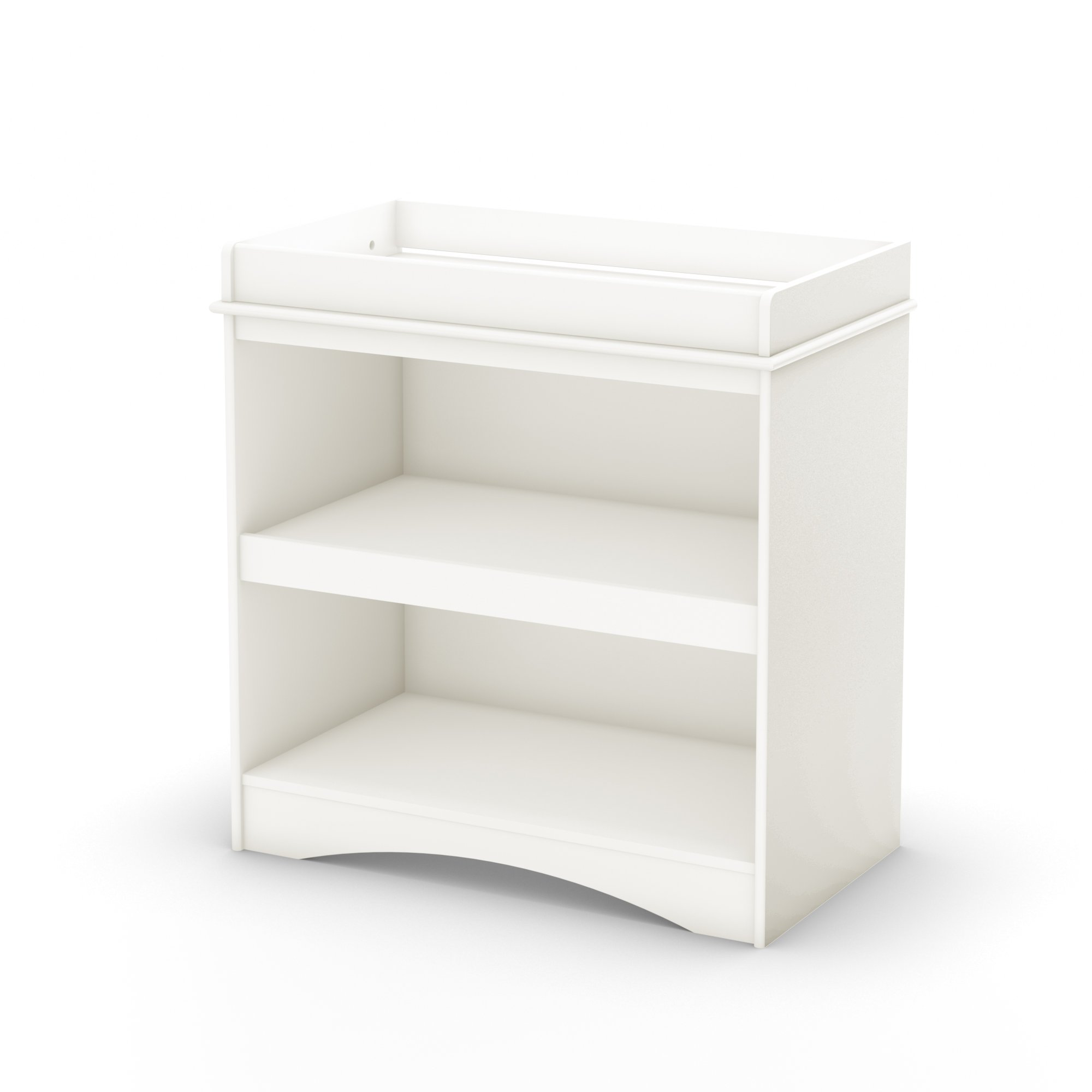 South Shore Cuddly Changing Table with 2 Drawers and open Storage Space, White by South Shore