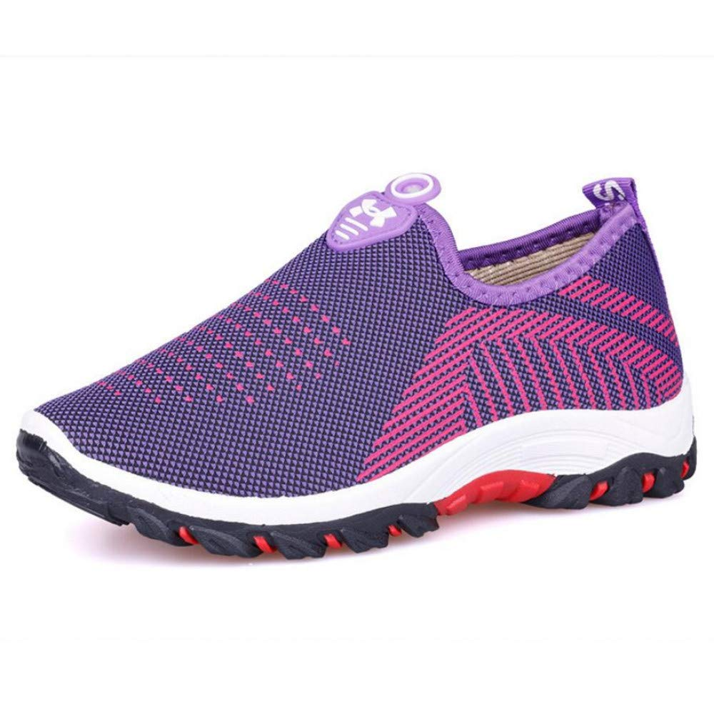 GUNAINDMX Herbst Frauen Damen Feminine Mode Casual Mesh Air Flach Niedrigen Komfort Slip-On Loafers Schuhe