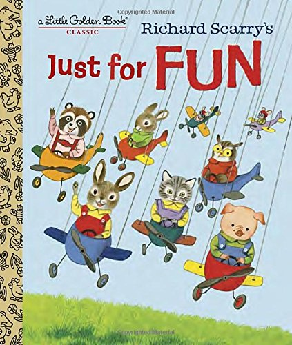 Richard Scarry's Just For Fun (Little Golden Book) (Black Fairy Tale Characters)