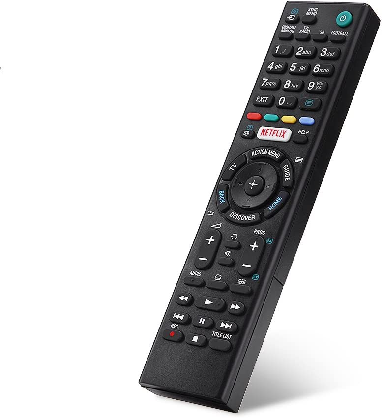 Pas de Batterie Remplacement Universel du contr/ôleur de t/él/écommande Intelligente Smart TV RMT-TX100D pour Sony Wytino T/él/écommande