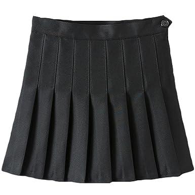 1486bbea4e IWEMEK Women Girls Sports High Waist Flared Skater Mini Tennis Skirt School  Uniforms Cosplay Pleated Short