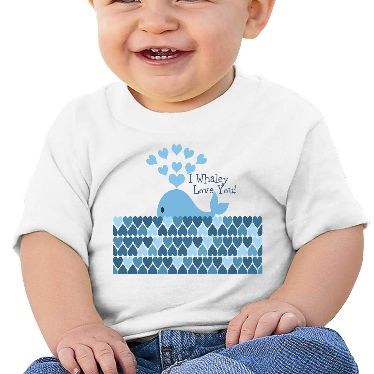 SakanpoI Whaley Love You Toddler//Infant Short Sleeve Cotton T Shirts White