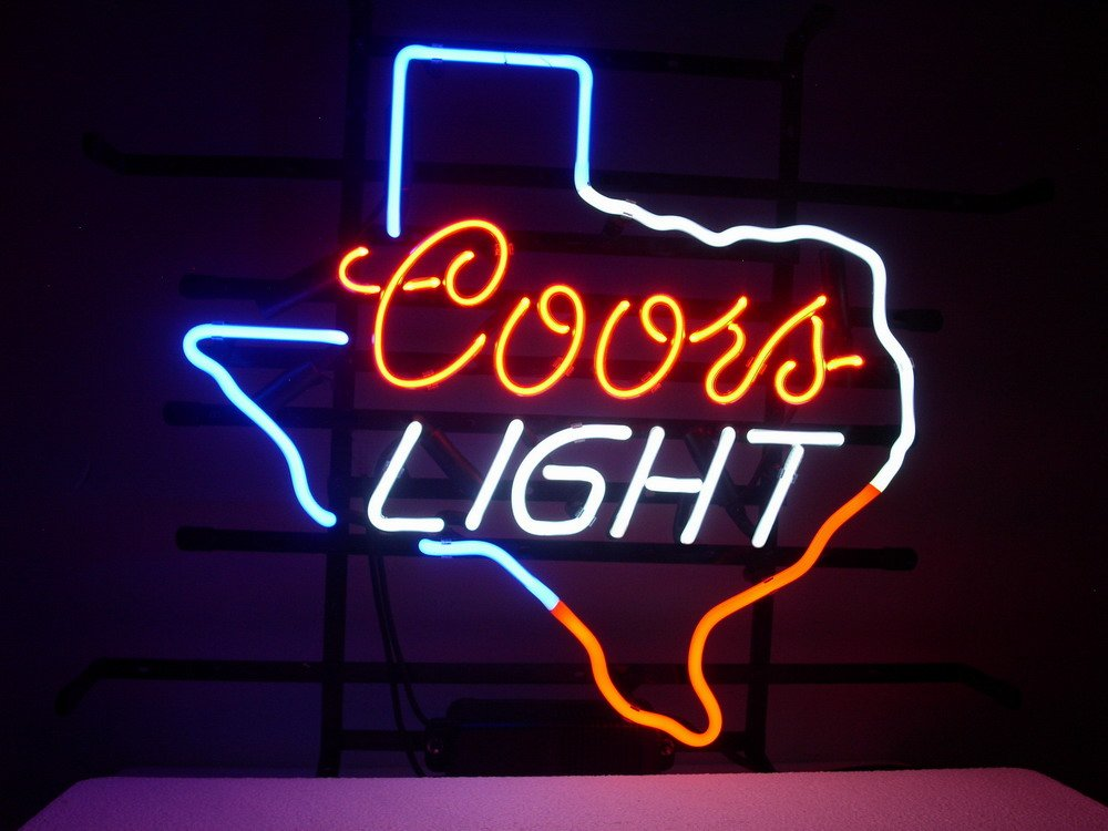 New coors light texas lone star real glass neon light sign home beer new coors light texas lone star real glass neon light sign home beer bar pub recreation room game room windows garage wall sign l30 by aoos amazon mozeypictures Choice Image