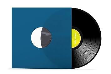 90 gr.//qm Schallplatten 50 St/ück Innenh/üllen gef/üttert antistatisch xi-media /® wei/ß Vinyl LP Eckschnitt 12