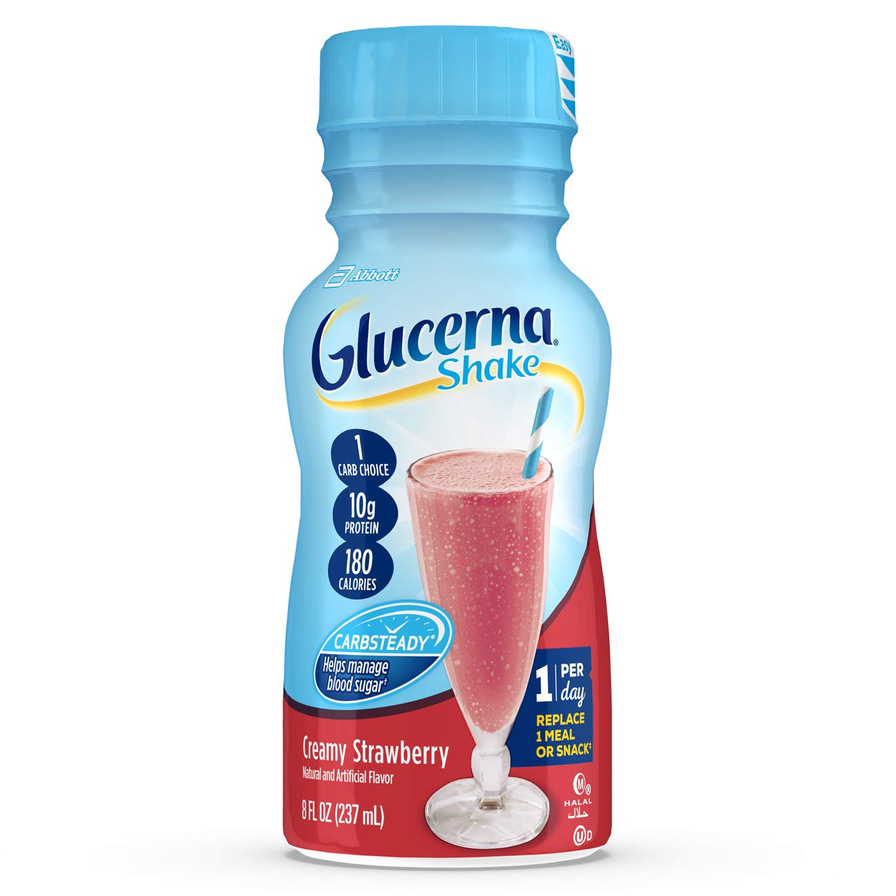 Glucerna Shake, To Help Manage Blood Sugar, Creamy Strawberry, 8 fl oz,