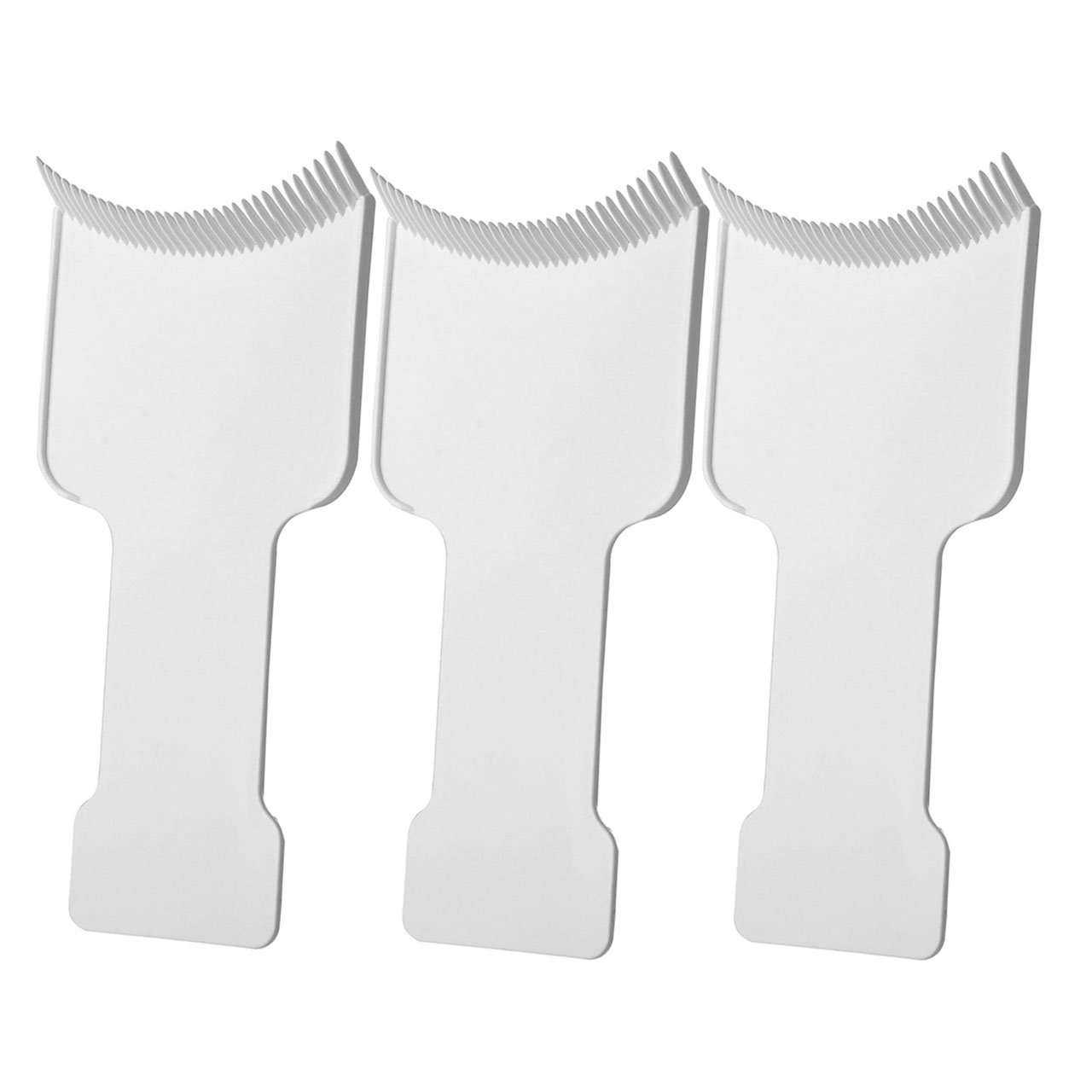 CCbeauty 3Pcs Barber Flat Top Paddle Board Comb Hair Highlighting Sectioning Comb Set for Hair Dye Colors, Balayage & More (White)