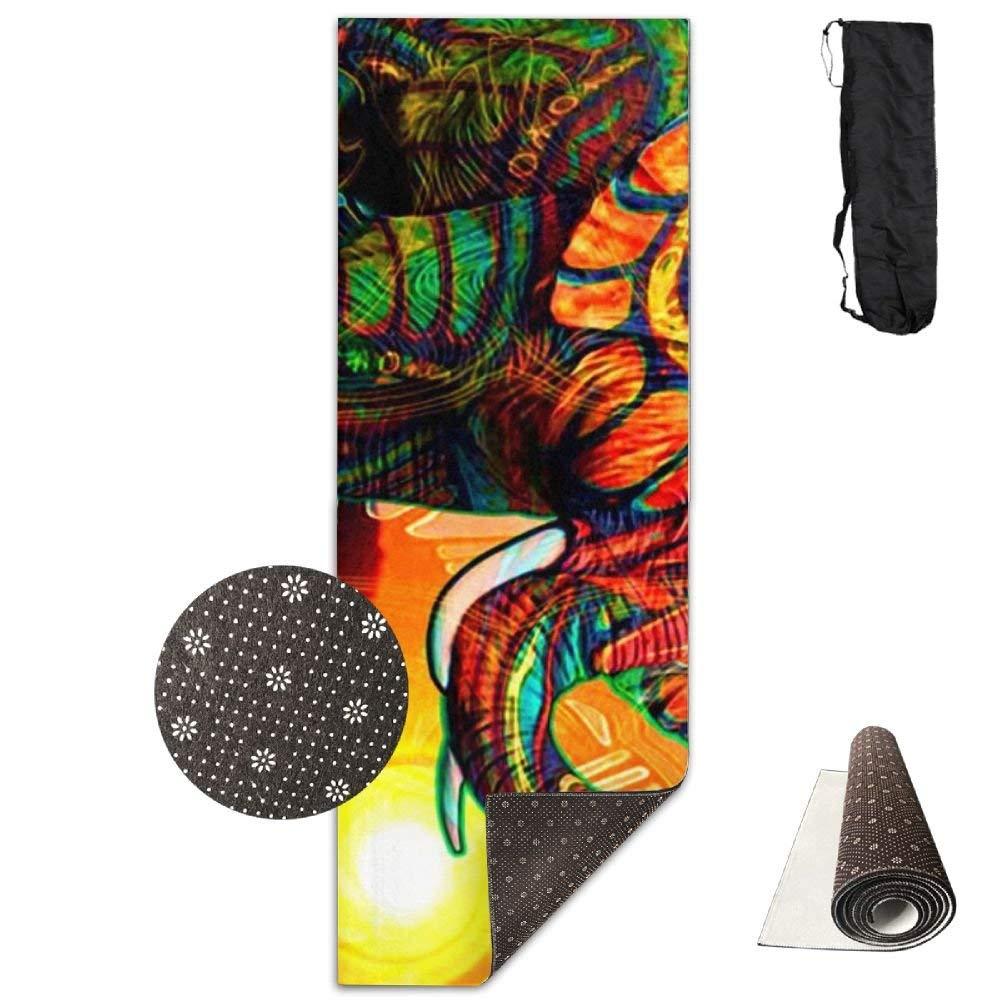 Cool Design Colorful Elephant Deluxe,Yoga Mat Aerobic Exercise Pilates Anti-slip Gymnastics Mats
