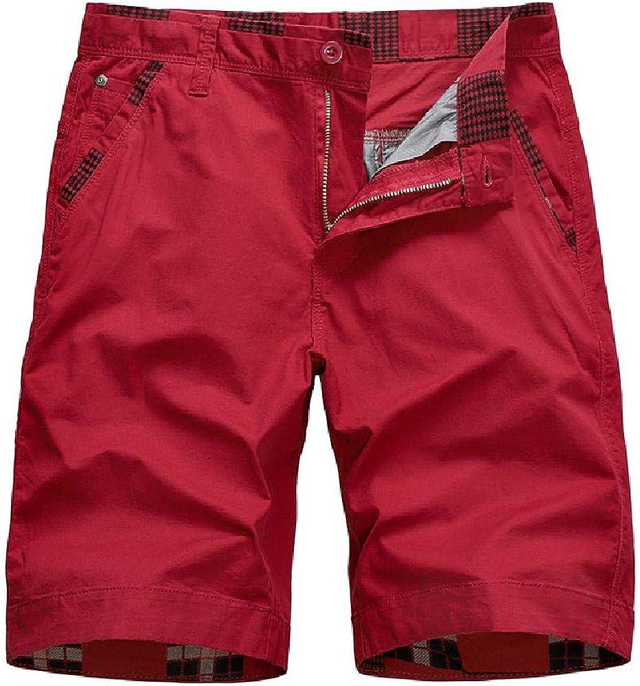 Pantalones Cortos Deportivos 2020 para Hombres Pantalones Casuales de Color sólido Pantalones de algodón Sueltos de Verano de Gran tamaño para Hombres