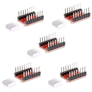 Sharplace Módulo Controlador Motor A4988 de Impresora 3D Accesorio ...