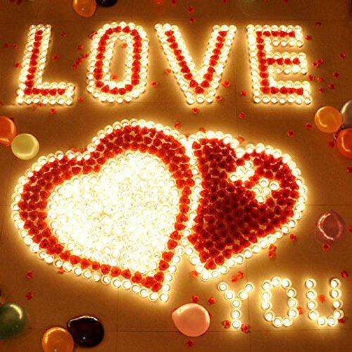 HuntGold 12stk Teelichter Tortendekoration Hochzeit Romantische Teelicht  Kerzen (weiß): Amazon.de: Küche U0026 Haushalt