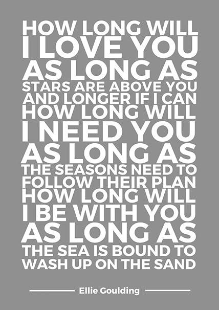 Cómo largo se I Love You letras tipografía por Universal impresiones ...
