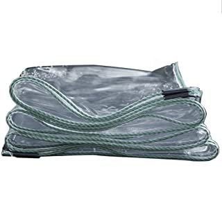 KYSZD-Tenda Multiuso Trasparente Telone Resistente agli Agenti atmosferici Protezione Solare Facile da Piegare Resistente ai Raggi UV Panno di plastica Portapacchi Ground Cover Occhielli in Alluminio