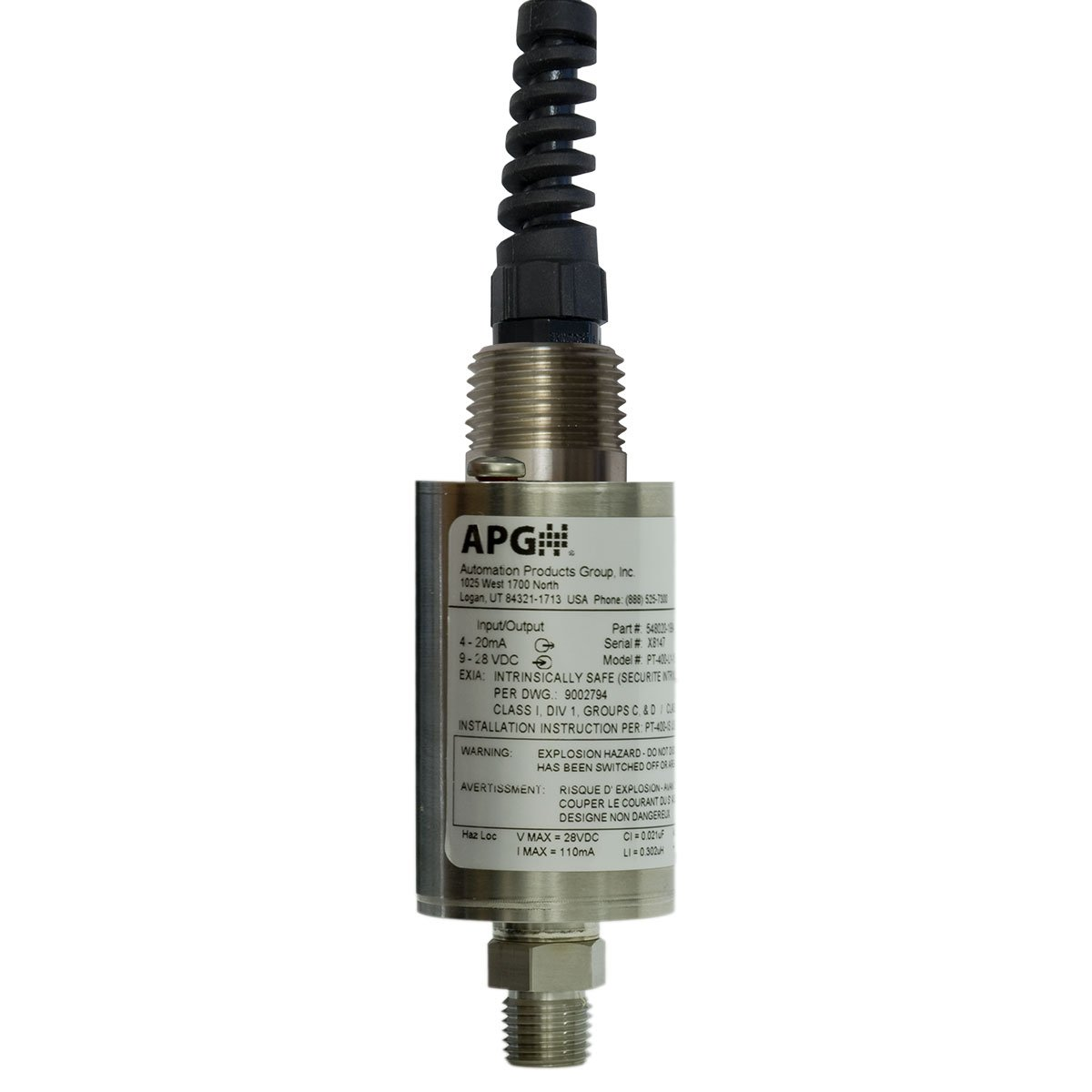 //-1Pct Dwyer Instruments Pressure Transducer 0 to 50 PSI