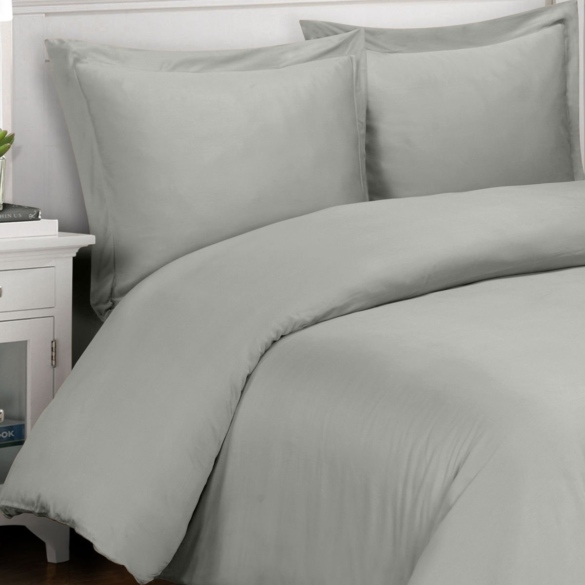 Amazon com silky and soft bamboo duvets 100 viscose from bamboo duvet cover set gray 3 piece king california king size duvet cover set home kitchen