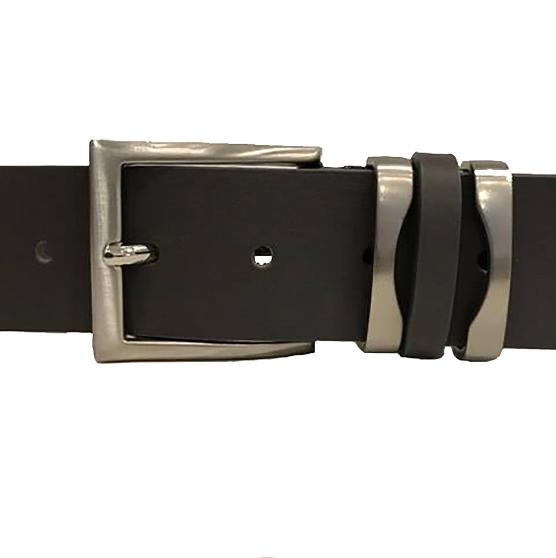 Cintura Uomo Donna Donna Donna Made in  Fatta A Mano Pelle Cuoio Toro Altezza 4 cm (Grigio Scuro, Tg.56 Misura Totale 125) | Sale Italia  | marche  afef01