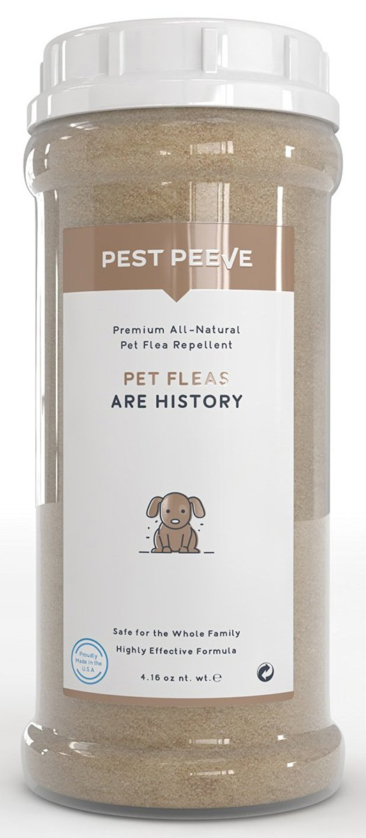 Pet Fleas are History - 100% Natural Flea and Tick Prevention Powder for Dogs and Cats - Spray and Collar Alternative - Eco-Friendly and Family Safe (4.16 oz) by Pest Peeve