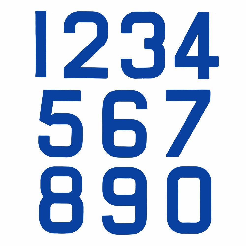 Bainbridge Marine Replacement Optimist Sail Numbers - Class Legal - Blue 2