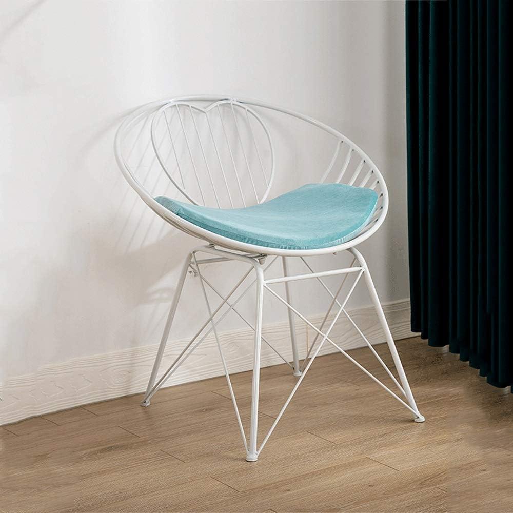 アイアンチェアアウトドアレジャーテーブルと椅子バルコニーカフェアームチェアガーデンガーデン錬鉄製フレームダイニングチェアクッション付き、ホワイト