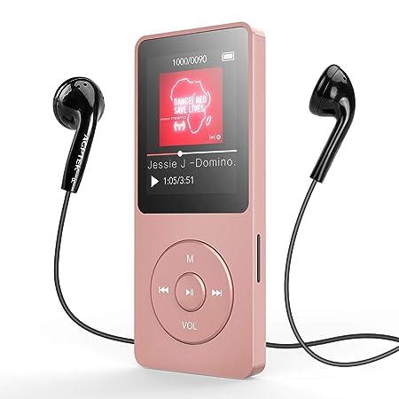 MP3 Player, AGPTEK 8GB Bluetooth 4.0 MP3 Player mit Kopfhörern, 1.8 Zoll 70 Stunden Wiedergabezeit Digital Kinder MP3 Player