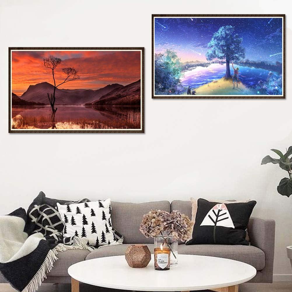 Yongqxxkj Exquisite Meteor Sonnenuntergang Baum Full Diamond Painting Kreuzstich Stickerei Wand Decor y031 y043 y043