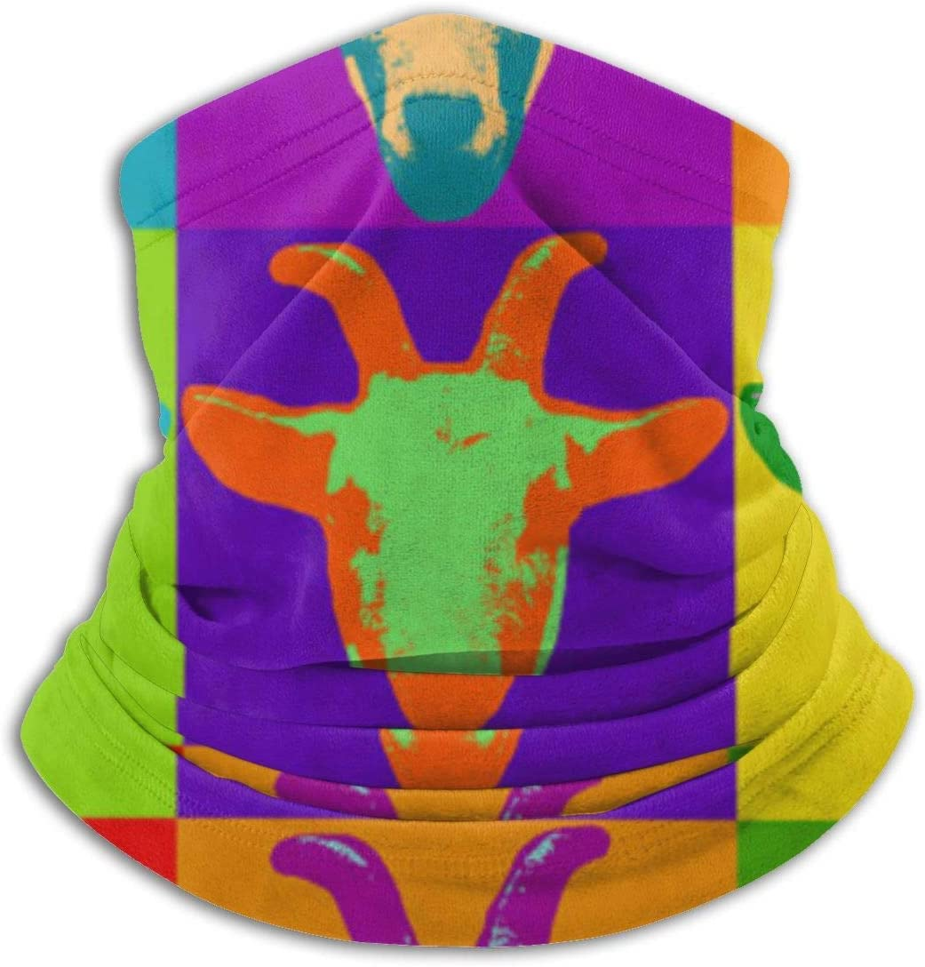 Headbands,Cabra Pop Art Graphic Billy Goat 12-En 1 Sombreros, Lindos Protectores Faciales Deportivos para Montar A Caballo,26x30cm