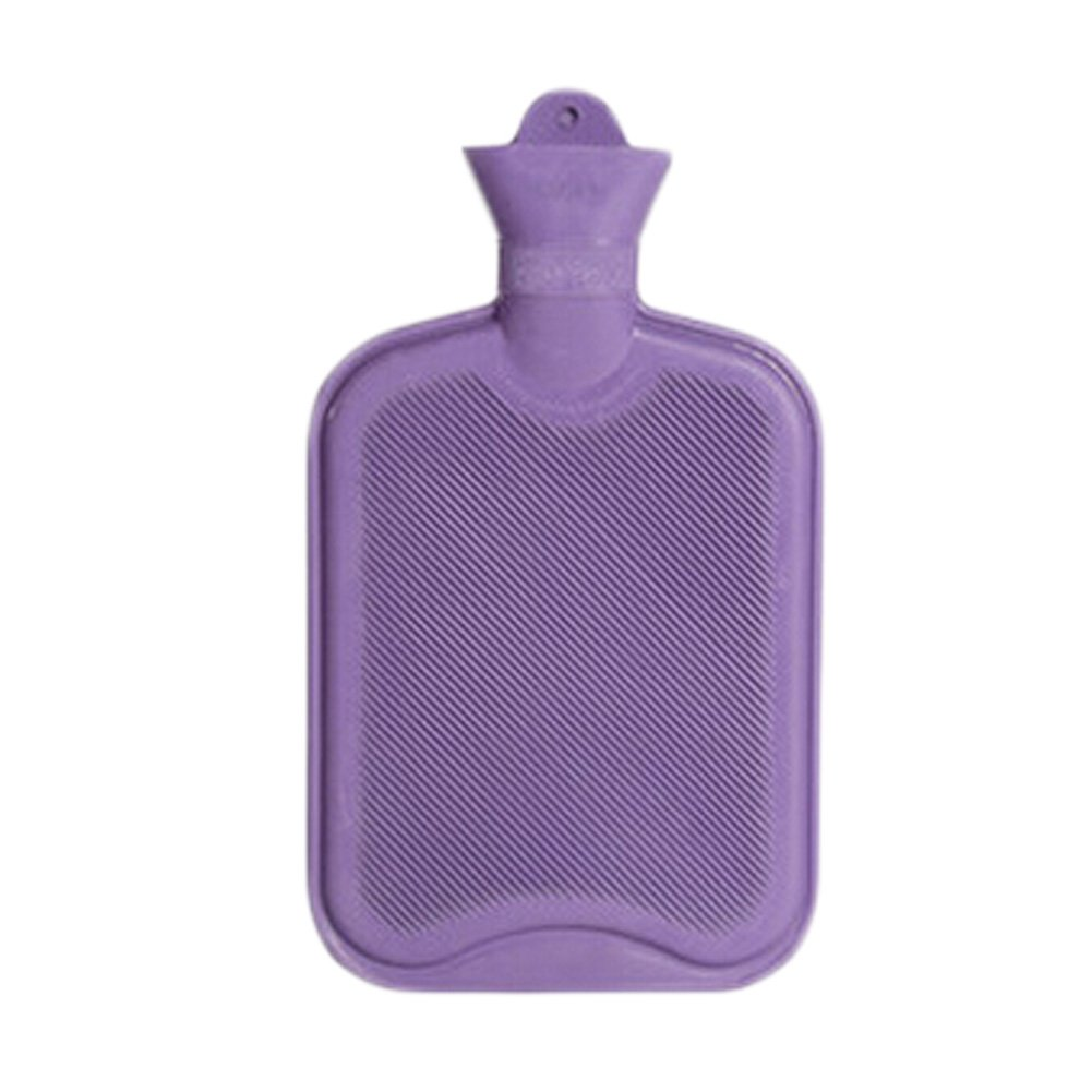 1 Liters Natural Rubber Hot Water Bottle, Purple