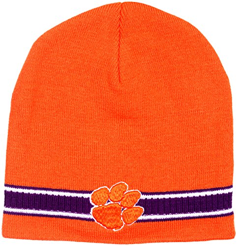 Clemson Tigers Men's Dash Knit Beanie by Collegiate Headwear