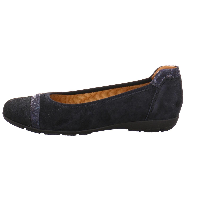 Gabor Gabor Gabor Schuhes Damen Ballerina mit weicher Laufsohle - Obermaterial Ledermix blau (16 pacific) Pacific 4b8a25