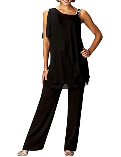 The Peachess Chiffon Formal Pant Suits For Mother Groom Dresses At