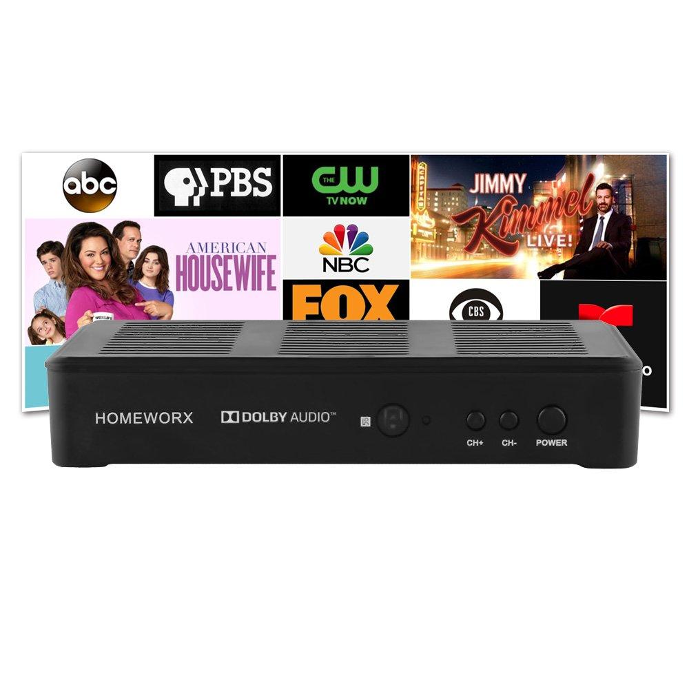 Mediasonic HomeWorx ATSC Digital Converter Box w/Recording and Media Player Function (2018 Version) (HW180STB-Y18) by Mediasonic