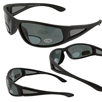b9843f9200 Image Unavailable. Image not available for. Color  Ragged Grey Polarized  Bifocal Sunglasses Magnifier ...