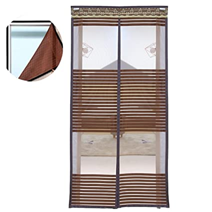 Liveinu Unique Design Reinforced Magnetic Screen Door Fits
