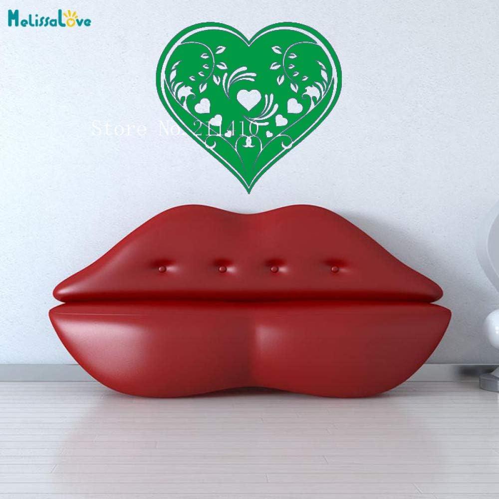 yaoxingfu Art Wall Decals Heart Vine Design Wallpaper Sticker ...