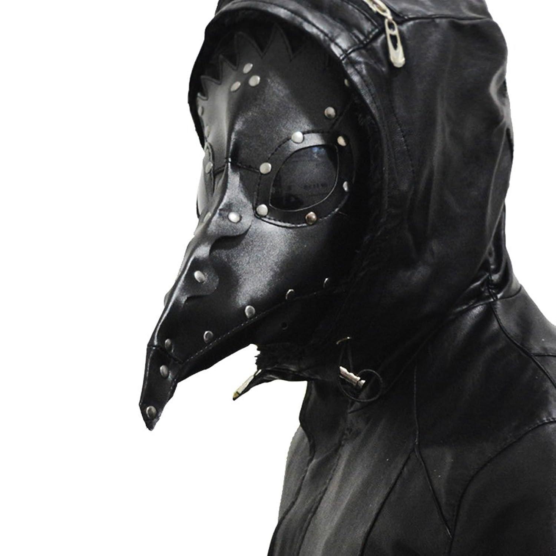 Amazon.com: XCOSER Plague Doctor Mask Props Halloween Steampunk ...
