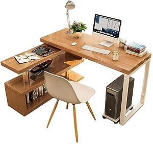Rotatable Computer Desk Shelves, Multipurpose Corner Desk Home Office Writing Reading Desk L-Shaped Workstation-a 100x50cm/39.4x19.7inch